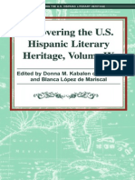 Recovering the US Hispanic Literary Heritage, Vol IX  EditeDonna Kabalen de Bichara and Blanca Guadalupe López de Mariscald