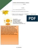 GUÍA DE REFUERZO CIENCIAS NATURALES 1° el sol y el universo