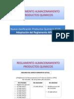 Reglamento Almacenamiento de Productos Quimicos