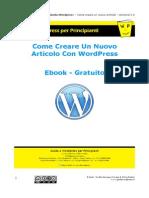 Come Creare Articolo in Wordpress 2 0