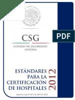 Estándares para Certificación de Hospitales