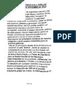 Documento de UNA de cara al Balotaje