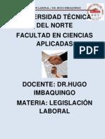 Materia de Derecho Laboral Actual