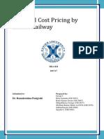 Marginal Pricing of Indian Railway