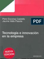 Tecnologia e Innovacion en La Empresa Pere Escorsa
