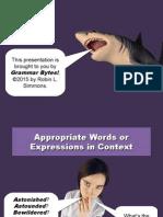 Word Choice