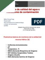 3 Msc. Betty Chung Parametros de Calidad de Agua e Indicadores de Contaminación