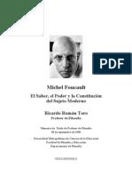 Michel Foucault, el poder, el saber y la constitucion del sujeto moderno