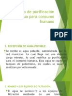 Proceso de Purificación de Agua Para Consumo Humano