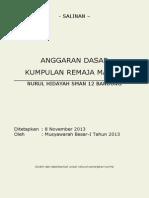 Anggaran Dasar 2013