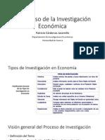 1)El Proceso de La Investigación Económica