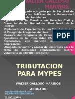Tributacion Para Mypes 2011