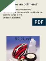 Materiales de Ingeniería II Clase de Polímeros