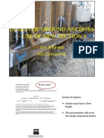 Design of Ground Anchors Use of New Ec7 Secyion 8