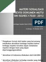 Materi Sosialisasi Revisi Dok Mutu 17020
