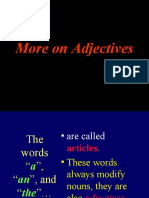 More on Adjectives
