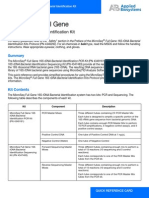 MicroSEQ® Full Gene 16S rDNA Sequencing Kit, with protocol & quick reference card