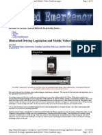 Distracted Driving Legislation and Mobile Video Conferencing