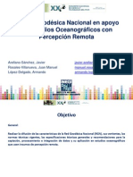 Rgn en Apoyo de Estudios Oceanograficos Con Percepción Remota