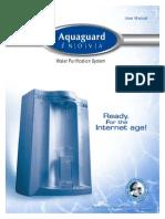 Aquaguard I-Nova User Manual