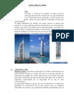 Informe del tipo de construccion que se uso para Hotel Burj Al Arab