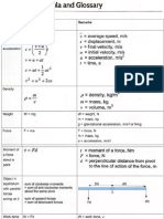 Definition and Formula Sheet Physics