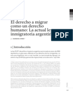 El Derecho a Migrar Como Derecho Humano