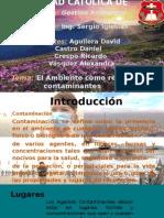 La Biodiversidad Como Receptor de Contaminacion