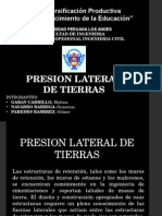 Presion Lateral de Tierras