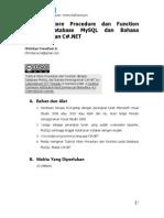 Tutorial Store Procedure dan Function pada Bahasa Pemrograman C#.NET