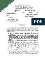 Acts of Lasc-Frust Murder-Grave Threats-14F-0742-Illustrisimo vs. TERO, RAUL BANTOC ET AL