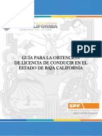 Guia Para Obtencion de Licencias de Conducir en Baja California