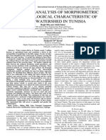 STATISTICAL ANALYSIS OF MORPHOMETRIC AND HYDROLOGICAL CHARACTERISTIC OF SMALL WATERSHED IN TUNISIA