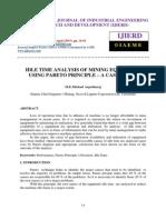 Idle Time Analysis of Mining Equipment Using Pareto Principle – a Case Study
