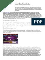 Tips dan Strategi Dasar Main Poker Online