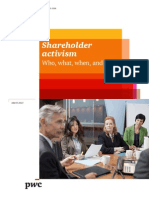 PWC - Shareholder Activism ~ Who What When and How - March 2015