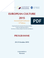 Programul Conferintei European Culture