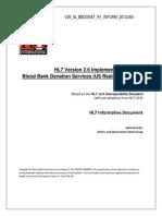 HL7 Blood Banks