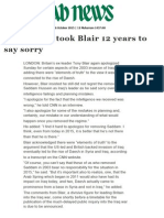 It Took Blair 12 Years to Say Sorry