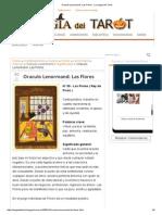 Oraculo Lenormand_ Las Flores - La Magia Del Tarot