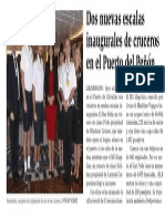 151029 La Verdad CG- Dos Nuevas Escalas Inaugurales de Cruceros en El Puerto Del Peñón p.8