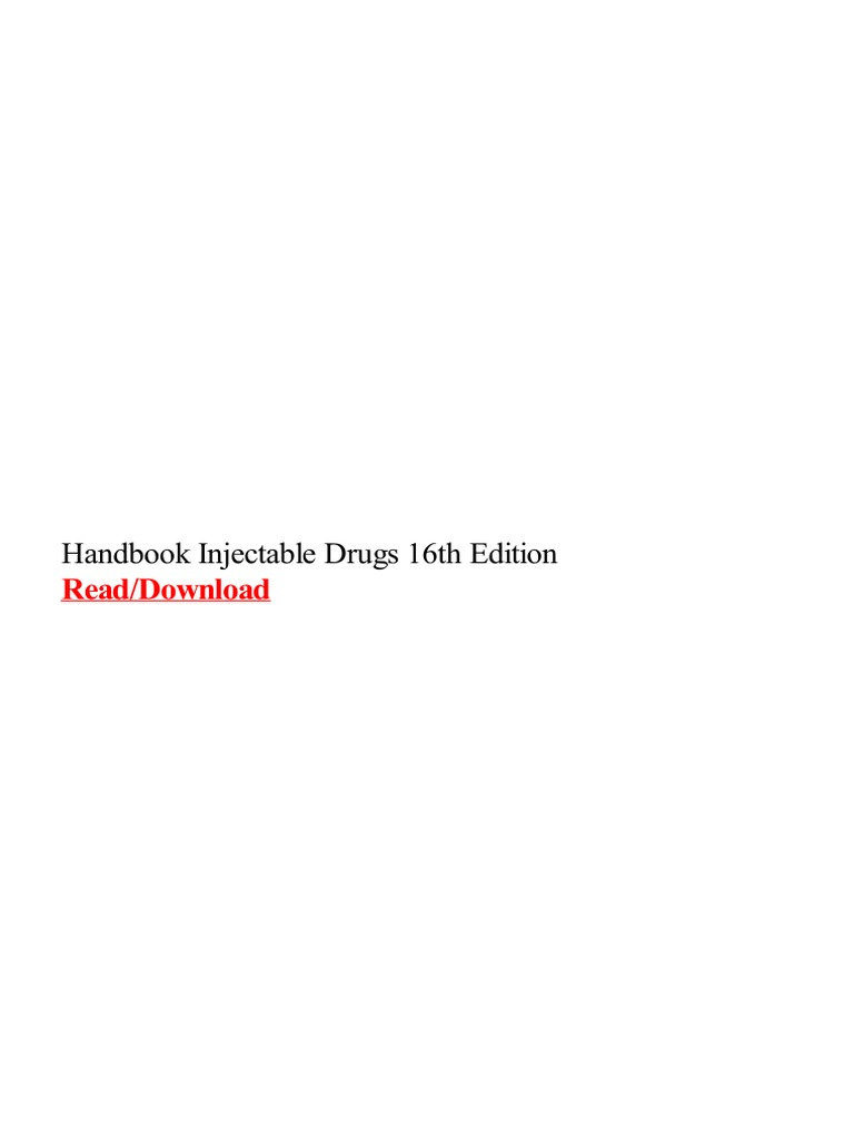 Handbook injectable drugs 16th edition merck co handbook injectable drugs 16th edition merck co pharmaceutical drug fandeluxe