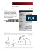 Cameron Model 1510 Side Mounted Level Switch Technical Data Sheet