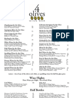 4 Olives Wine by the Glass List