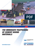 BP14 - Immediate Trafficking of Cememnt Bound Materials