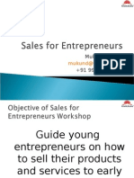Sales for Entrepurner