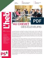 """L'Hebdo des socialistes n°787 """"Au chevet des éleveurs"""""""