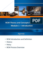 RCM Theory and Concepts Workshop