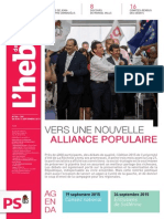 """L'Hebdo des socialistes n°788-789 """"Vers une nouvelle alliance populaire"""""""
