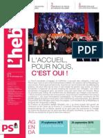 """L'Hebdo des socialistes n°790 """"L'accueil pour nous c'est oui"""""""
